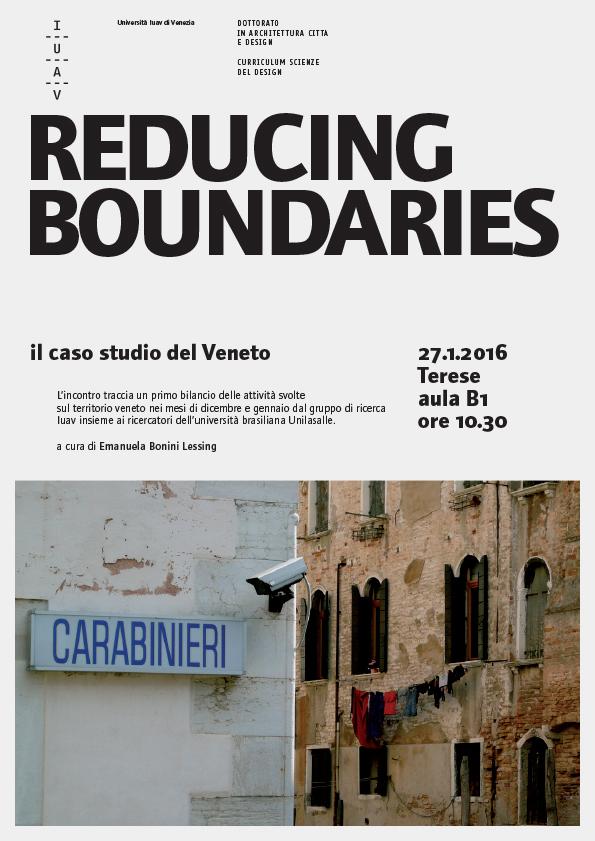 Reducing Boundaries - Caso Studio Veneto